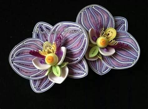 paper quilling orchid tutorial quilling orchid quilling 3 orchids pinterest