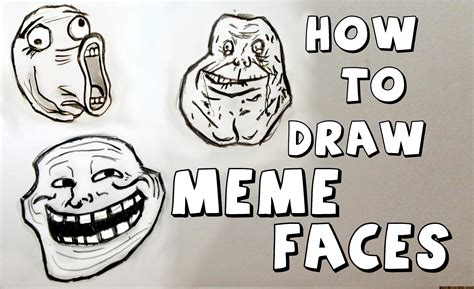 How To Draw A Meme Face - ep 111 how to draw meme faces youtube