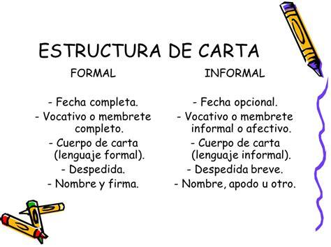 carta formal e informal ejemplos como hacer una