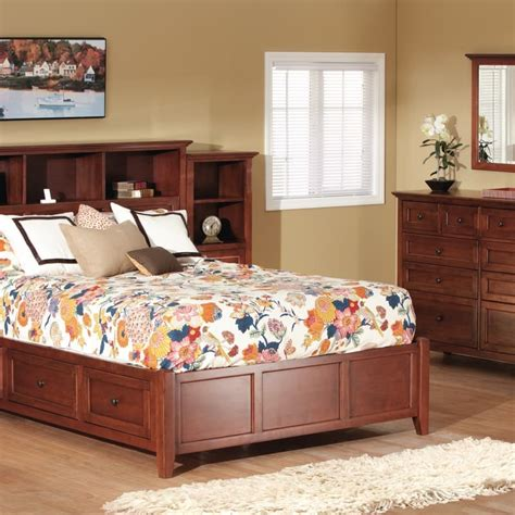 bookcase bedroom set mckenzie cherry bookcase storage bedroom set
