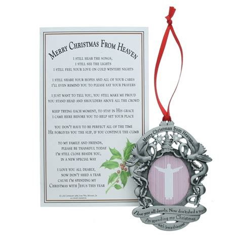 merry christmas from heaven photo ornament the catholic