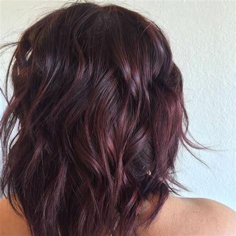 deep burgundy brown hair color salon red la on instagram from deep brown to burgundy