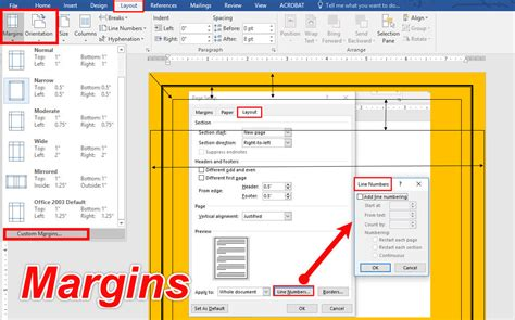 setting margins in word set page margins and change page orientation in microsoft