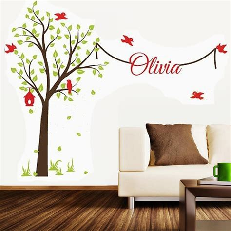 Tree Wall Stickers With Name Decal Elegant Garden Tree Garden Wall Decal