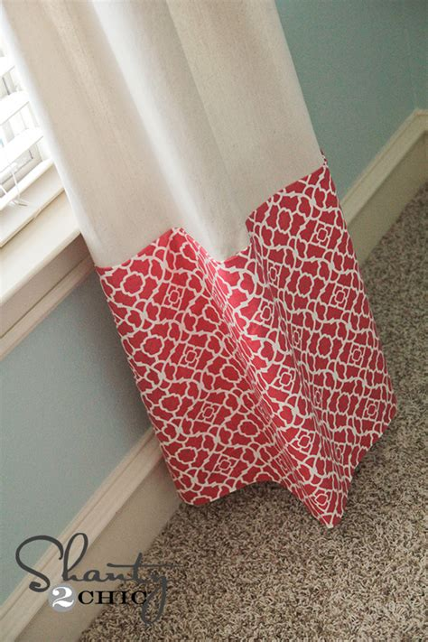 how to sew curtain panels curtains no sew baby shanty 2 chic