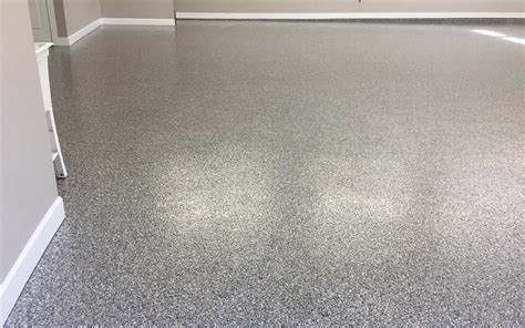 Garage Floor Coating Double Broadcast Random Flakes