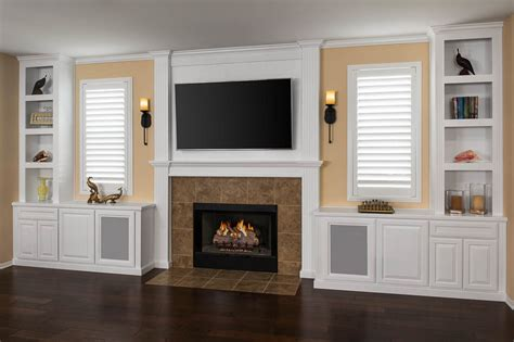 Fireplace Cabinets by Custom Entertainment Centers Designed Built