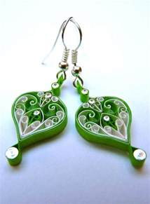 quilling earrings images earrings eco friendly paper quilled quilling folksy