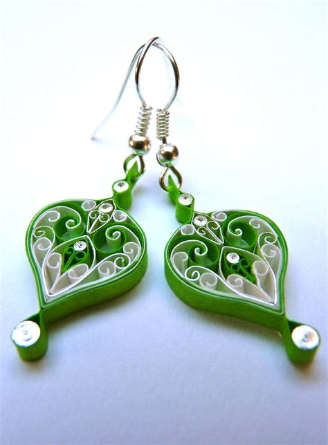 Paper Earring - earrings eco friendly paper quilled quilling folksy