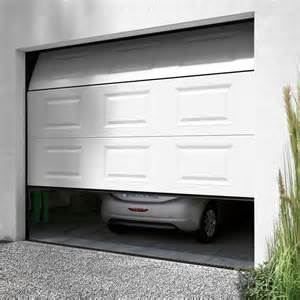porte de garage sectionnelle motoris 233 e en kit castorama