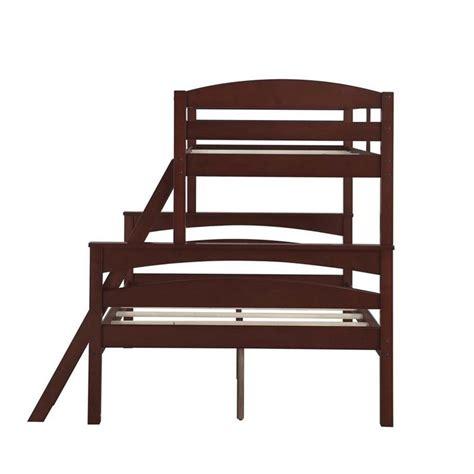 espresso bunk bed twin over full bunk bed in espresso da6940e