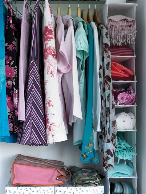 how to organize clothes without a closet how to organize your closet hgtv
