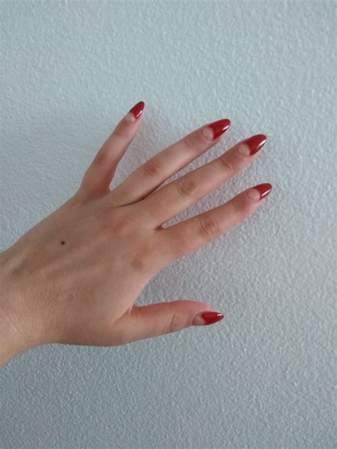 dark red  gold  moon acrylic almond nails fall nails almond nails autumn nails