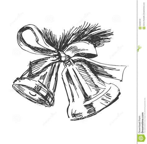 Wedding Bell Sketch by Sketch Of Bells Stock Vector Image 62268109