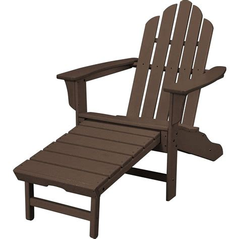 adirondack chair and ottoman polywood classic white plastic adirondack chair add202wh