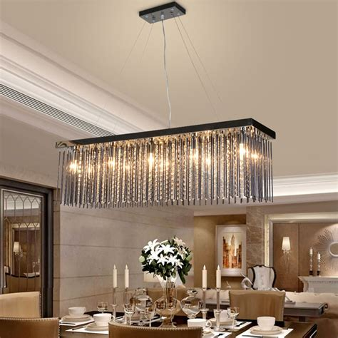 Aliexpress Com Buy Crystal L Rectangular Dining Room Rectangular Dining Room Light