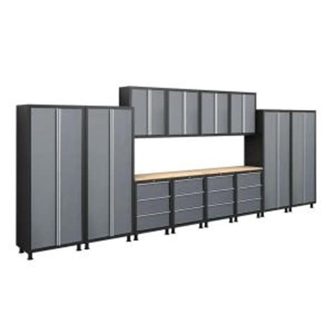 Metal Cabinets Home Depot by Newage Products Bold Series 72 In H X 224 In W X 18 In