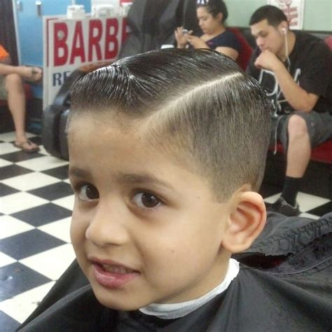 boy haircut styles that barbers use kids side part yelp