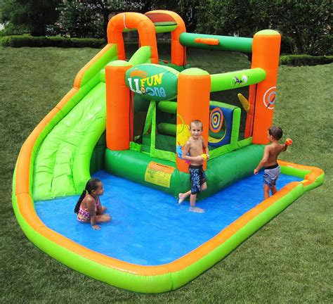 water bounce house kidwise endless fun 11 in 1 inflatable bouncer and water slide the green head