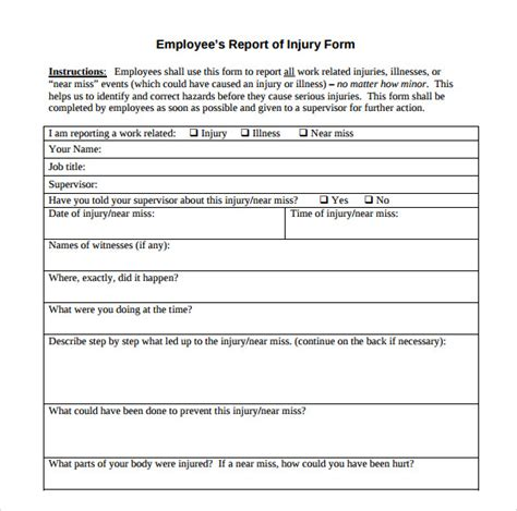 accident report template 9 download free documents in