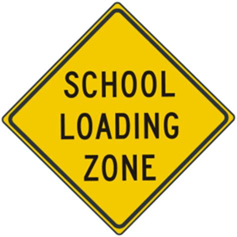 background zone loading 24 quot school loading zone signs usa traffic signs