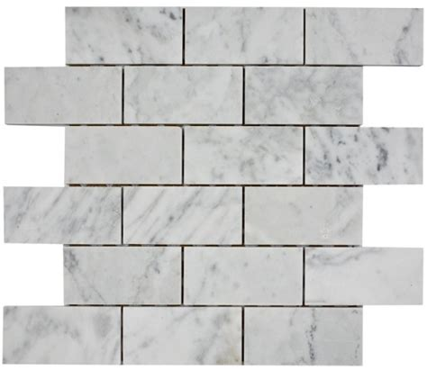 8 50sf carrara bianco 2x4 quot honed marble mosaic