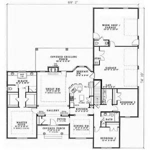 2 Story Ranch House Plans Ranch Style House Plans 2096 Square Foot Home 1 Story
