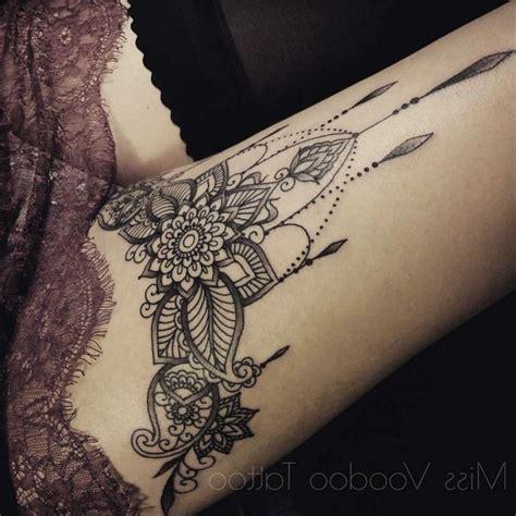 thigh mandla henna tattoo divine henna pinterest tattoo oberschenkel mandala ideen henna pinterest
