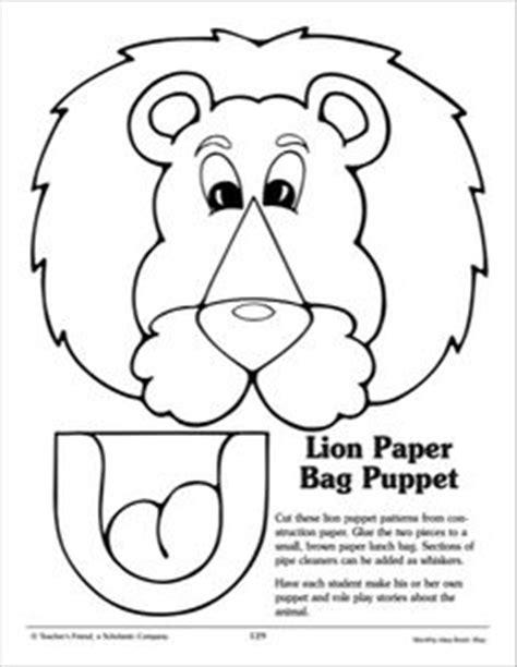 paper bag puppet boy pattern lion paper bag puppet template google search r theme
