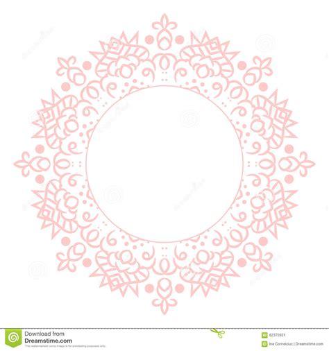Circle Card Template by Baby Pink Mandala Circle Rosette Card Template Stock