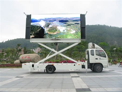 mobile lcd display mobile truck trailer car moving advertising led display