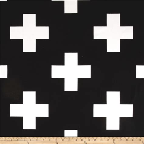 black and white cross quilt pattern premier prints large swiss cross black white discount