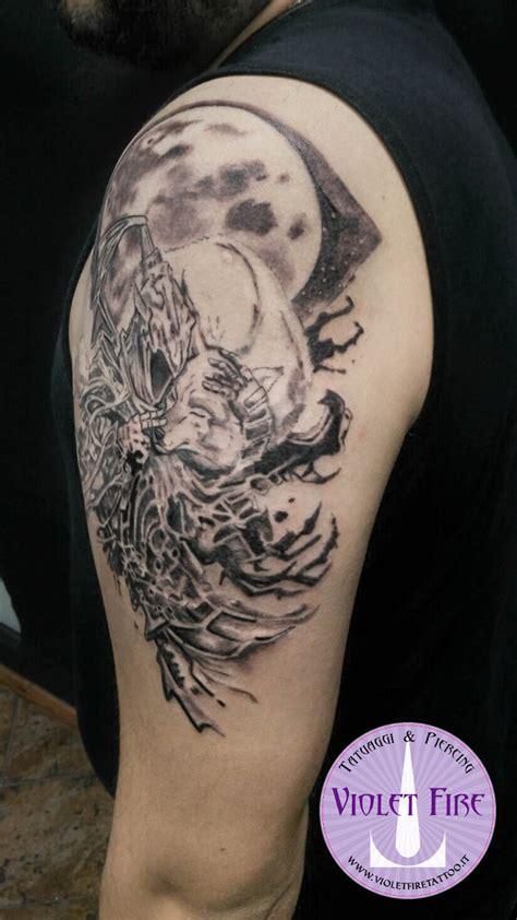 dark souls tattoo tatuaggio souls artorias e sif adam raia by violet