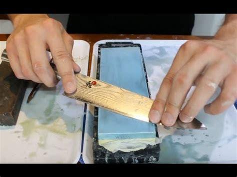 sharpen  knife   wet stone