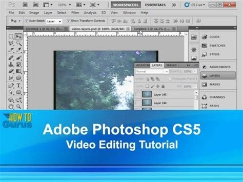 youtube photoshop tutorial cs5 adobe photoshop cs5 video editing tutorial import video