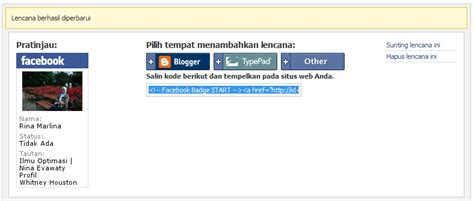 membuat facebook badge cara mudah membuat facebook badge di wordpress rina