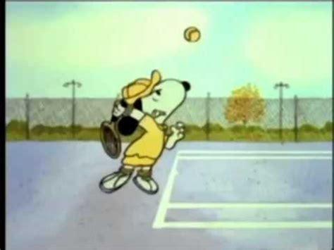 史努比打網球 (snoopy playing tennis) youtube