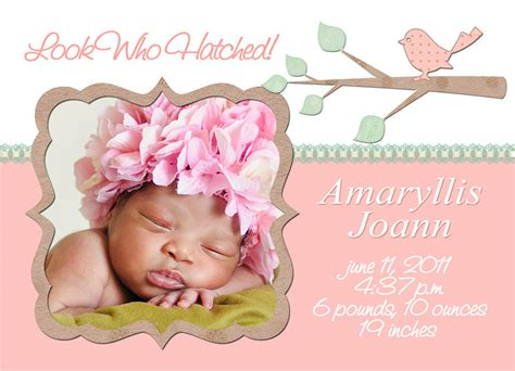 baby announcements card template birth announcement template free templates