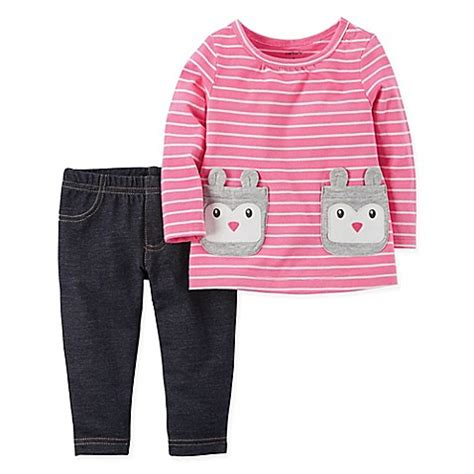 Kaos Carters Size 9 M buy s 174 size 9m 2 bunny pocket striped tunic and knit denim pant set in pink from