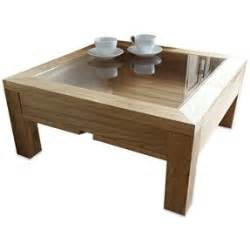 square wood and glass coffee table foter - Square Wood And Glass Coffee Table