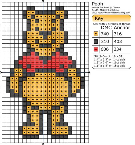 pattern maker education winnie the pooh graph to make a c2c afghan free crochet
