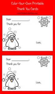 color your own printable thank you cards for