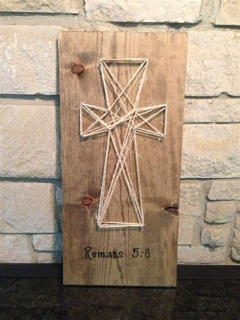 How To Make String On Wood - 34 best images about string crosses on