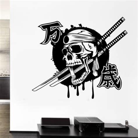 Promo Persib Bobotoh Tengkorak Nevy kendo sticker samurai sword decal japan poster vinyl wall decals skull parede decor