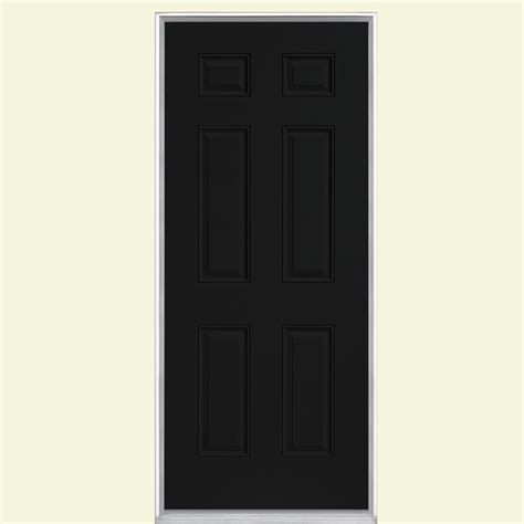 Front Door Panel Masonite 36 In X 80 In 6 Panel Painted Steel Prehung Front Door With No Brickmold 19921 The