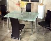 Metal Dining Table W Glass Top Ol Dt34 Metal Dining Set W Glass Top Ol Dt29s