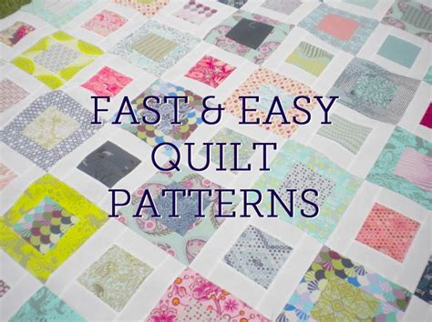 Easy Patchwork Quilt Patterns Free - five fast quilting projects patterns techniques easy
