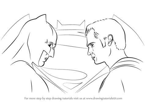 V Drawing Easy by Learn How To Draw Batman Vs Superman Batman V Superman