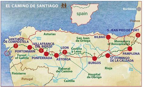 camino way map camino de santiago caspin journeys