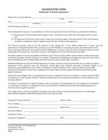 guarantor form addendum to rental agreement free